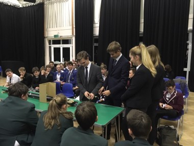 Year 12 testing their vehicle