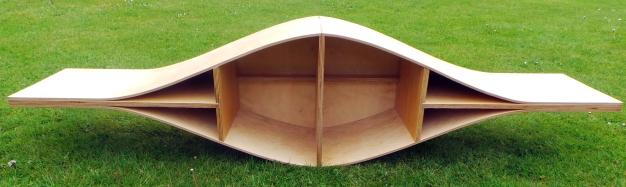 Andrew Sze - kayak-inspired bookshelf